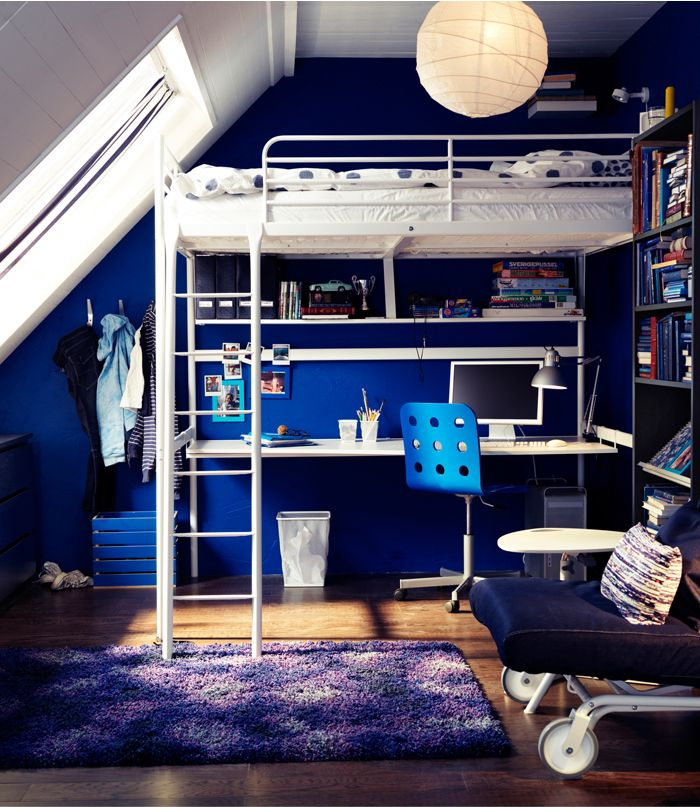 Get A TROMS Loft Bed That Is Both A Bed And Working Area