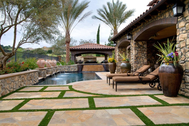 awesome backyard with a tuscan twist house pinterest