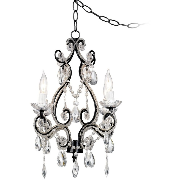 Plug In Chandelier By Lamps Plus Coral Bedding