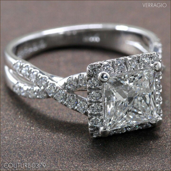 Princess Cut: verragio ring