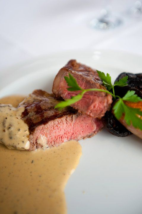 Char-Grilled Steak with brandied pepper sauce To see our menus visit ...