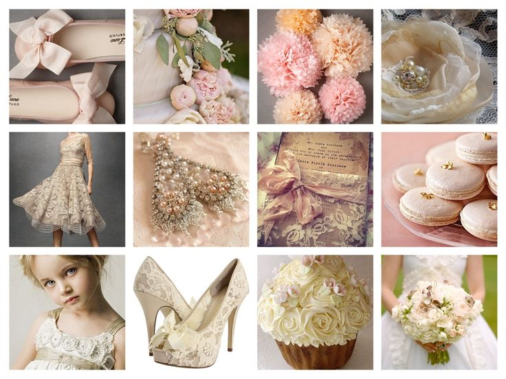 Love blush and ivory