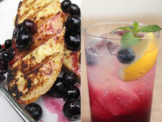 ... Grilled French Toast with Sausages and Blueberries & Blueberry Beauty