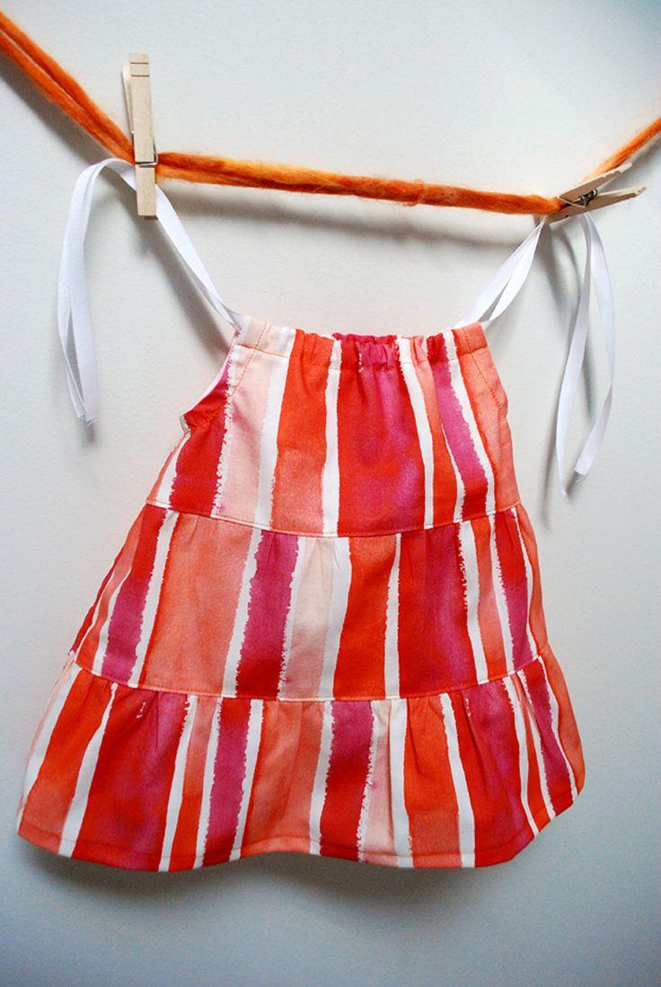 Tiered ruffle baby dress free sewing pattern tutorial