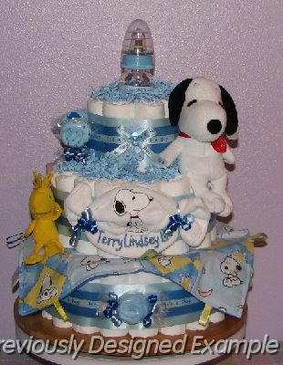 snoopy diaper cake baby pinterest