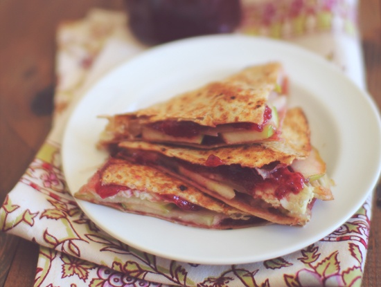 Turkey Apple & Swiss Quesadilla from the Dashing Dish... An awesome ...
