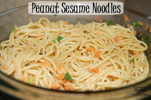Scattered Thoughts of a Crafty Mom: Peanut Sesame Noodles