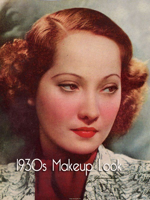 1930s makeup Makeup of the 20s30s 40s Pinterest - 20S Hairstyles