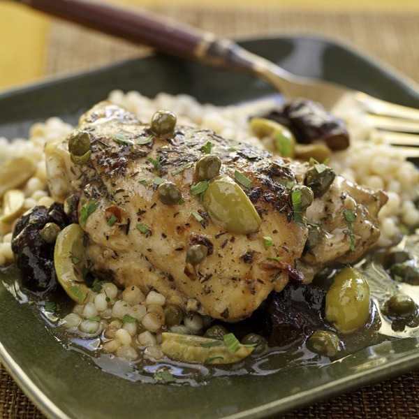 Braised Chicken with Dried Plums, Olives and Capers | Recipe