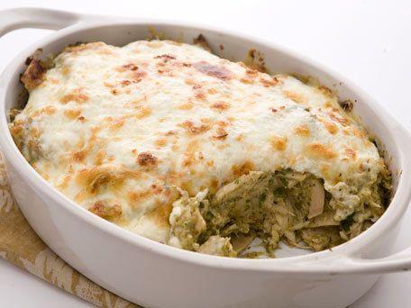 Roasted Tomatillo & Chicken Chilaquiles. I used corn tortillas, will ...