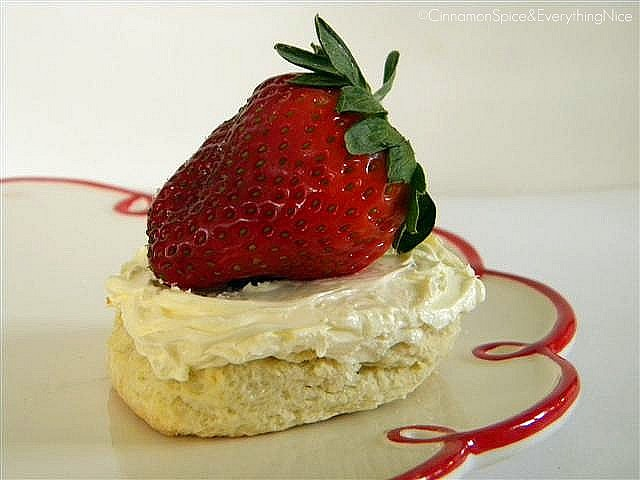 Classic Scones with Devonshire Cream & Strawberries by ~CinnamonGirl
