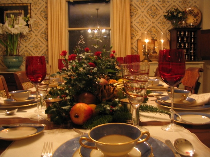 Christmas Dinner Table Setting The Country House