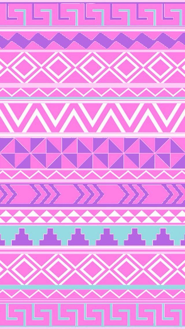 pink and purple aztec pattern wallpaper pinterest