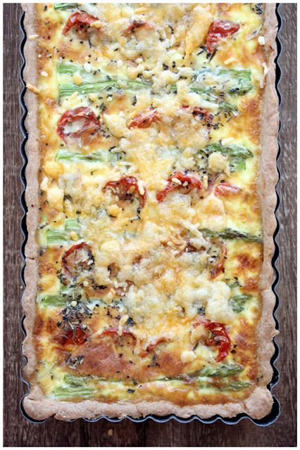 ... . By Chelle.: Asparagus Leeks Roasted Cherry Tomatoes Quiche