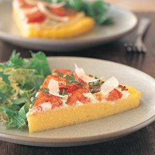 Polenta Pizza with Tomatoes and Ricotta | Williams-Sonoma