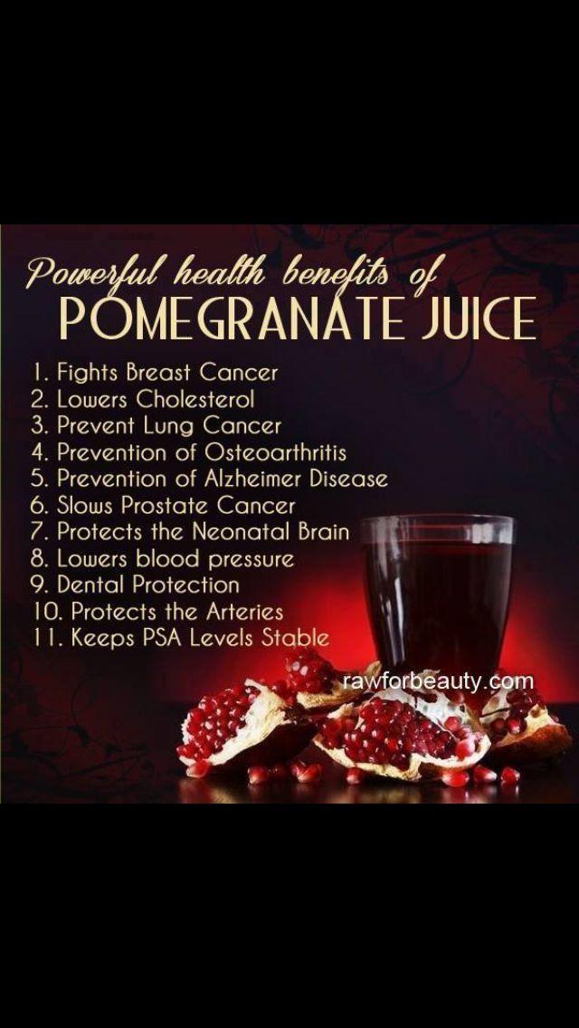 ... delish! Make sure you peel the pomegranate first :) Pomegranate juice