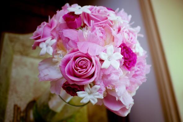 White & Pink Wedding Bouquet