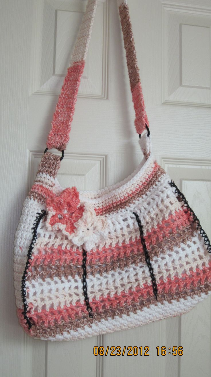 My new Crochet Sling Bag w/flower by Noelincrements