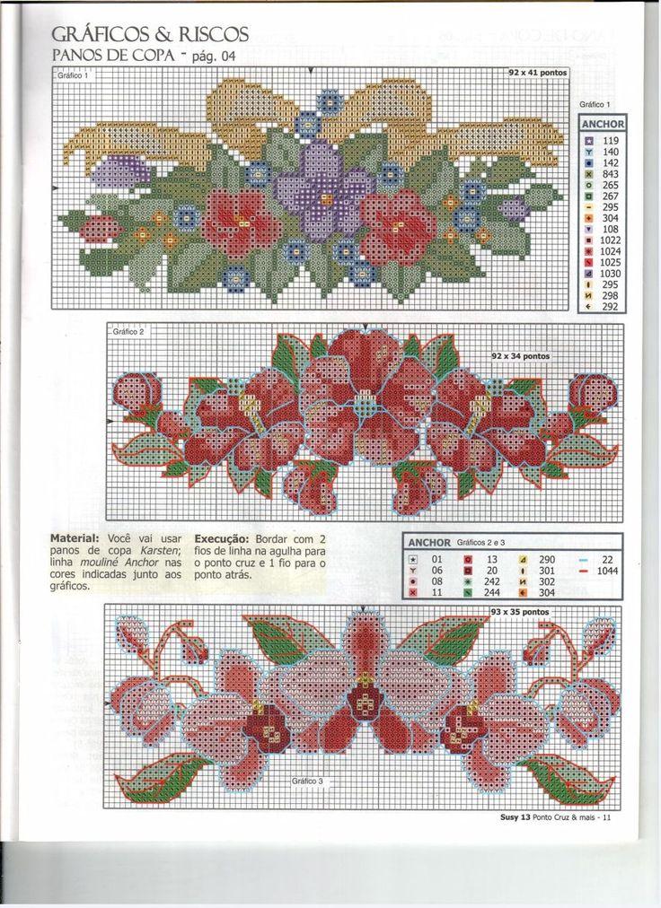 Схемы вышивка крестом шторы 1