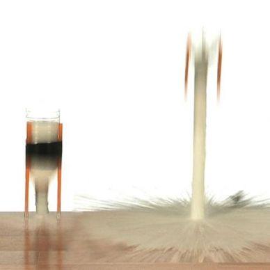experiments acid base rocket