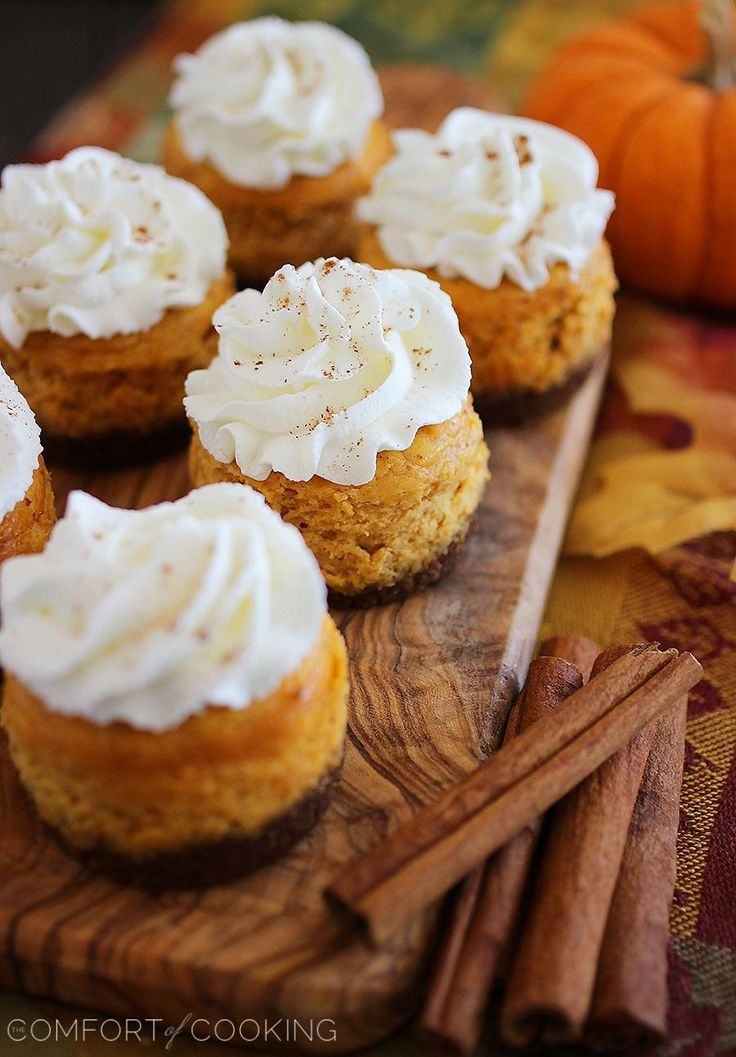 Cooking » Mini Pumpkin Cheesecakes with Gingersnap Crusts - pumpkin ...