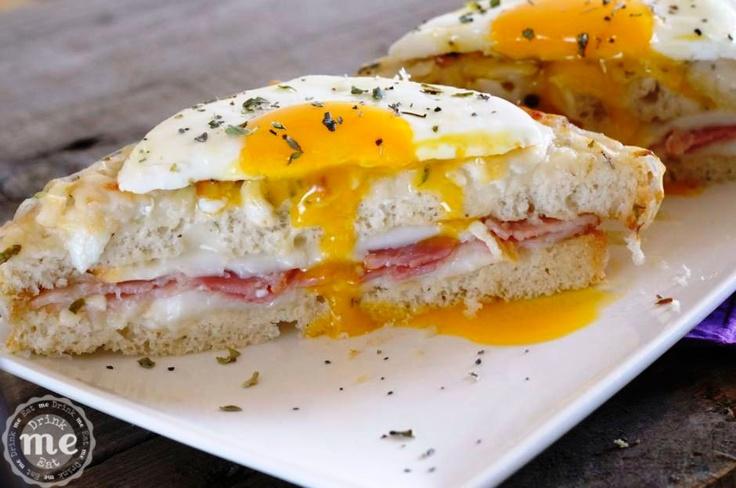 Sándwich croque madame /Croque madame sandwich