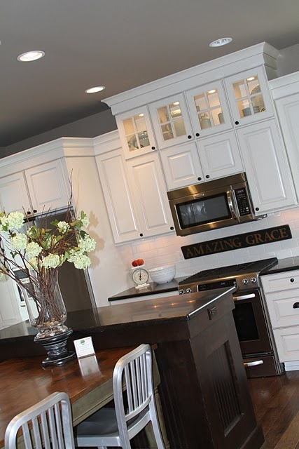 White cabinets gray walls home decor pinterest White cabinets grey walls