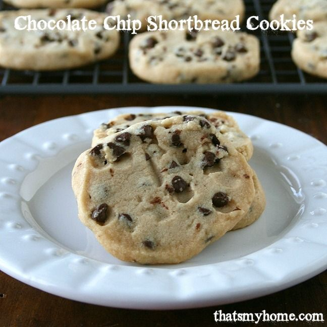 Chocolate Chip Shortbread Cookies - Tender, buttery Chocolate Chip ...