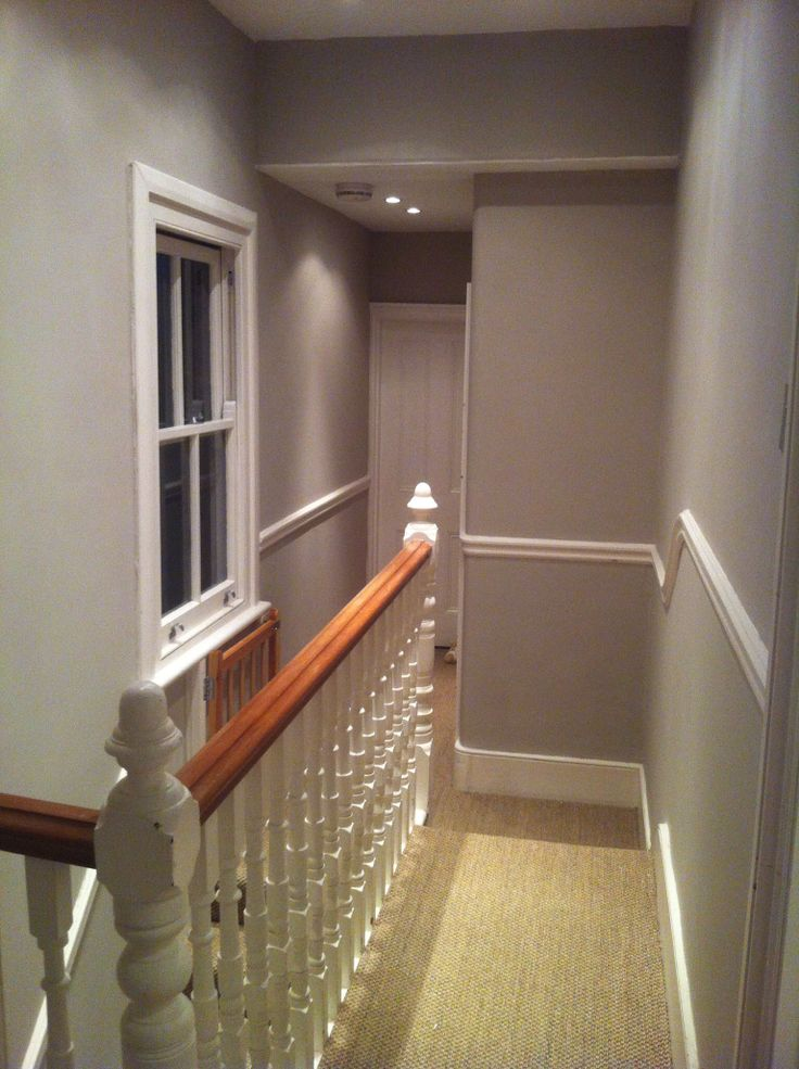 Farrow & Ball's Elephant's Breath hallway