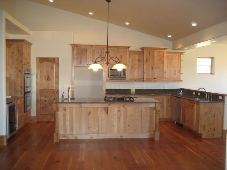 Cherry Wood Floor Alder Cabinets For The Home Pinterest