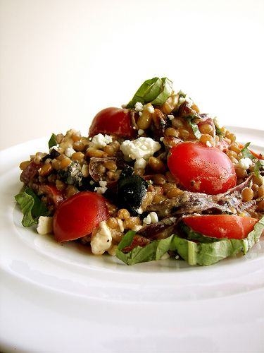 Greek Wheat Berry Salad | Healthy Family Foods | Pinterest