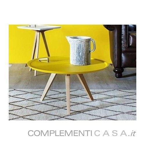 Tavolino con piano dappoggio estraibile Servolone Miniforms