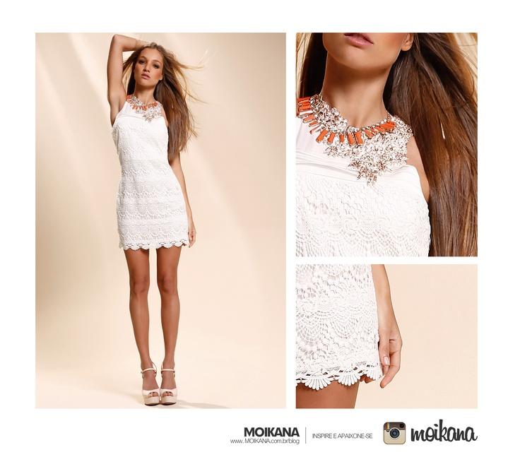 Vestido branco de Renda.