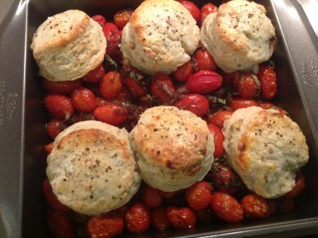 Tomato Cobbler & Blue Cheese Biscuits | Fooood! - Side Dishes | Pinte ...