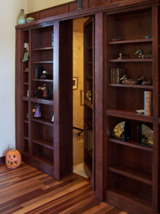 Custom Doors And Hidden Passages Cool Places Spaces