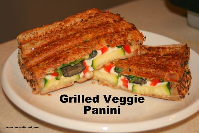 grilled veggie panini - leave out the cheese to make it vegan!