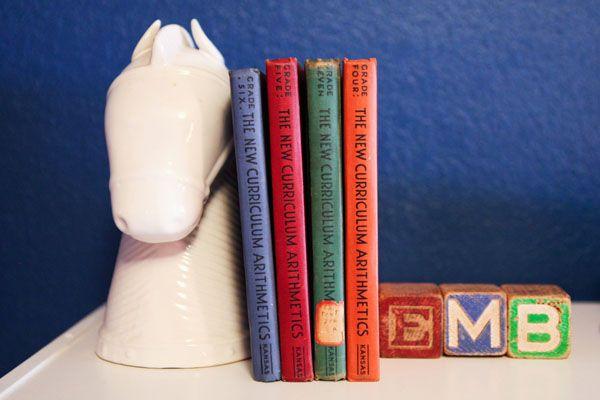 Vintage Books - love as #nursery #decor
