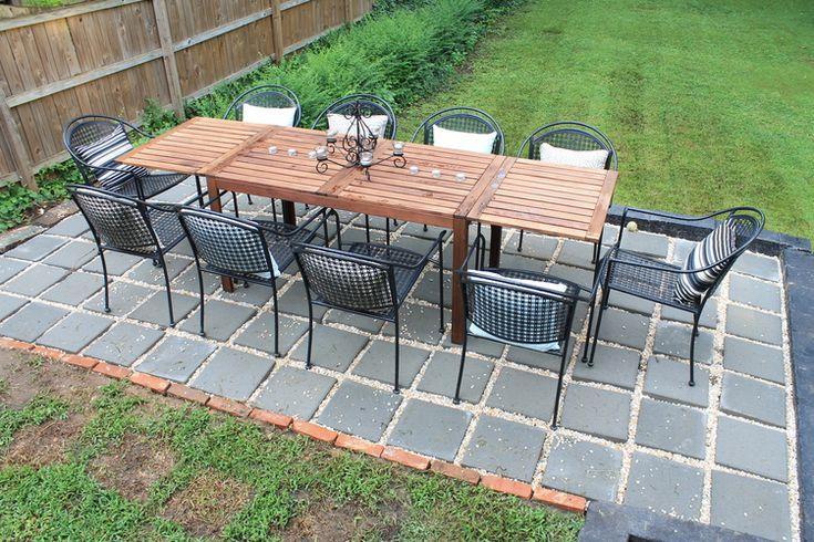 Pea Gravel Patio Diy : Elizabeth Burns Design  DIY Paver Patio  Outdoor Living  Pinterest