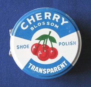 Cherry Blossom Transparent Shoe Polish tin, c.1950s