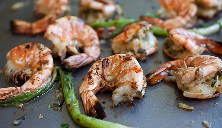 Grilled Shrimp with Kimchi Miso Butter Recipe | Easy Asian Recipes ...