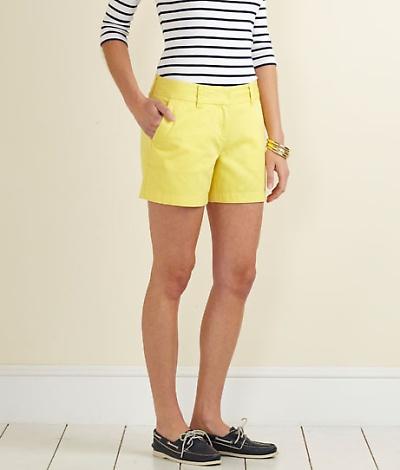 Vineyard Vines Classic Twill Shorts in Lemon Drop; yellow shorts to ...