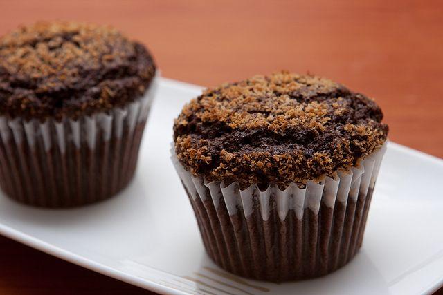 Chocolate Coconut Muffins Recipe | Eat dessert first | Pinterest