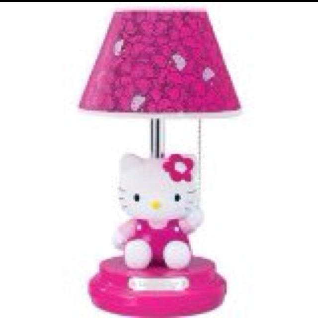 hello kitty lamp hello kitty pinterest. Black Bedroom Furniture Sets. Home Design Ideas