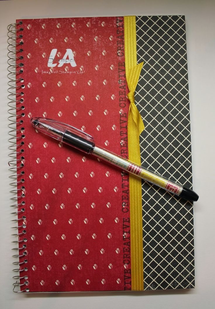 LA Stamper: Flashback DSP covered notebook and pen for downline gifts at convention - what a great use of DSP!