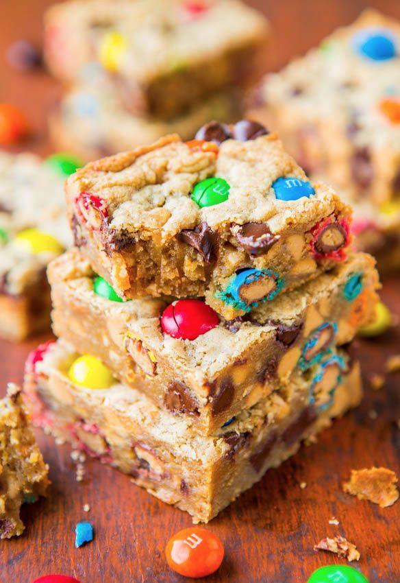 Triple Peanut Butter Monster Cookie Bars | Recipe