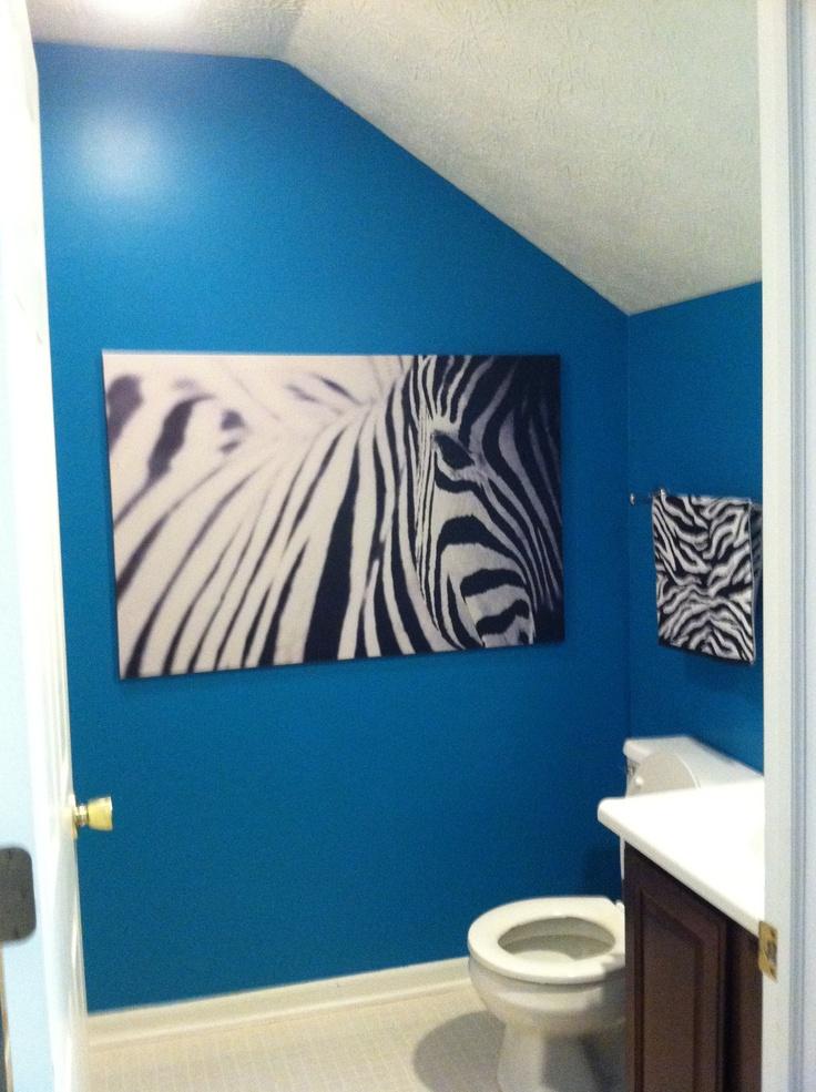 Zebra And Teal Bathroom Home Decor Pinterest