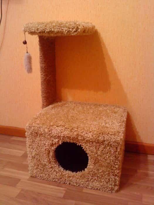 Как сделать кошачий домик в домашних условиях 773