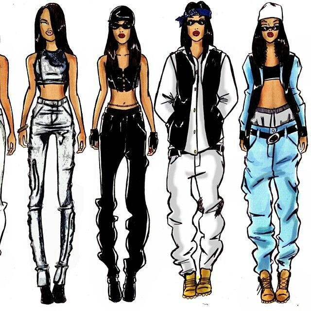 Aaliyah Video Outfits Just Like Her Pinterest