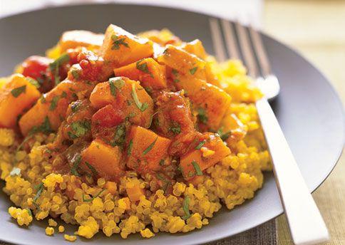 Quinoa with Moroccan Winter Squash and Carrot Stew | Recipe
