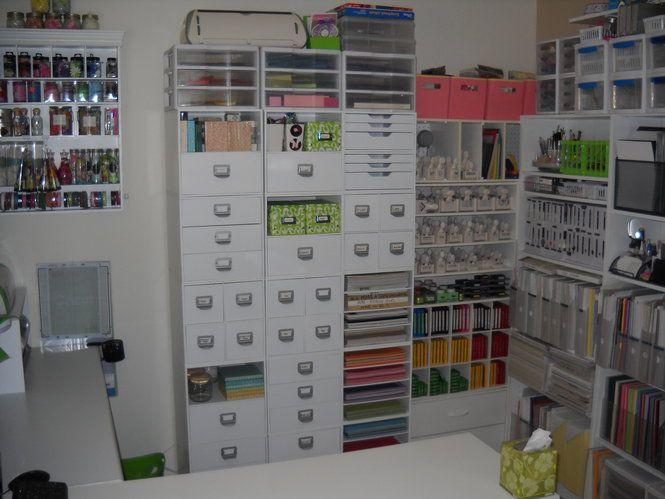 Scraproom craft room ideas and storage solutions pinterest for Storage solutions for craft rooms